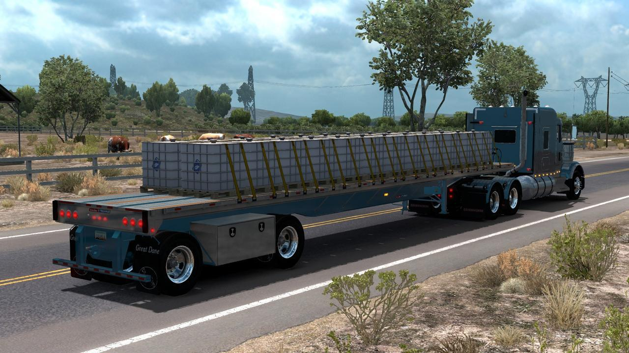 OWNABLE GREAT DANE FLATBED 1 33 X - ATS Trailers - American Truck